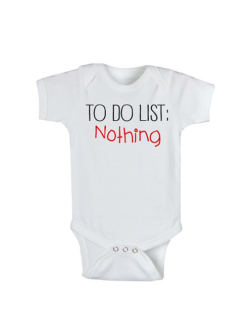 To Do List Onesie #WO159