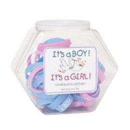 It's a Girl/Boy Rubber Bracelets