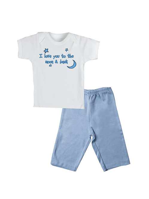 Love to the Moon Pant Set Blue #WLT354B