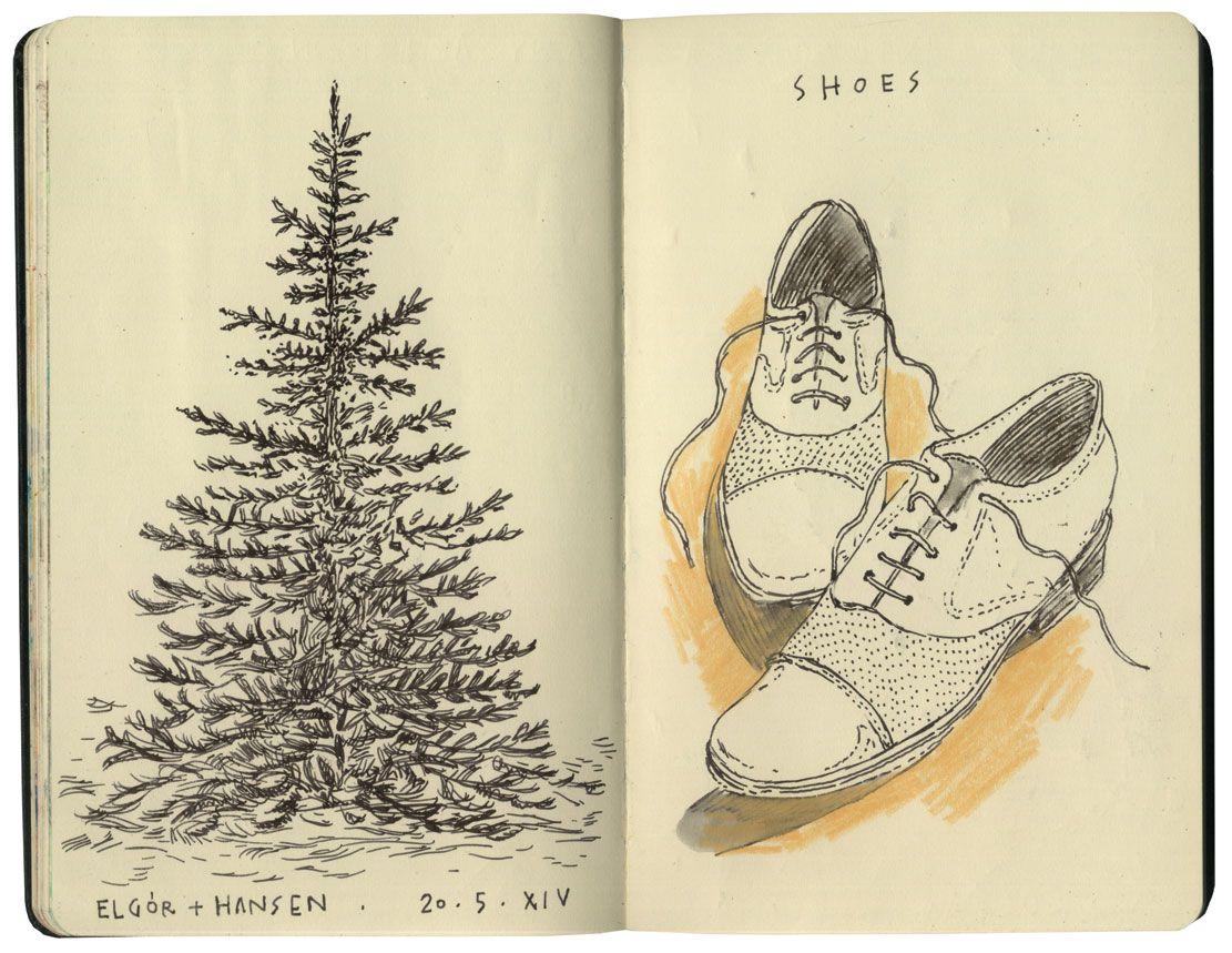 Pines & shoes
