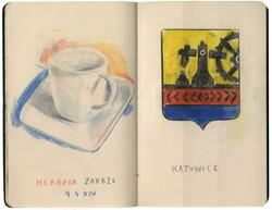 Tea cup & badge