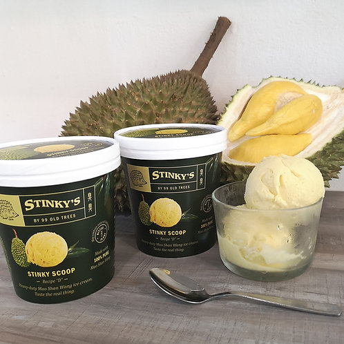 Stinky Scoop (Mao Shan Wang Ice Cream) -- 2 Pints