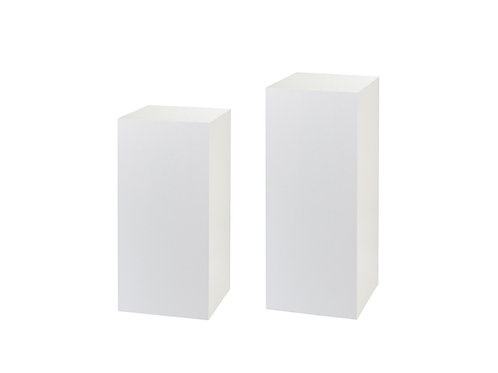 White Plinths
