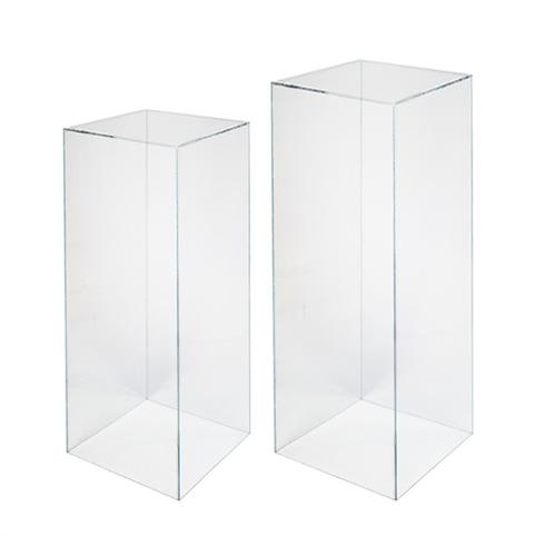 Clear Plinths