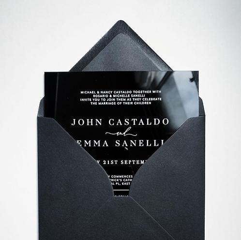 Acrylic Invitation - Black