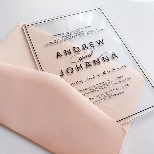 Acrylic Invitation - Transparent
