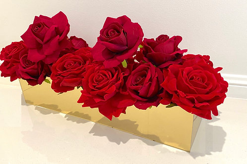 Red Velvet Trough Vase