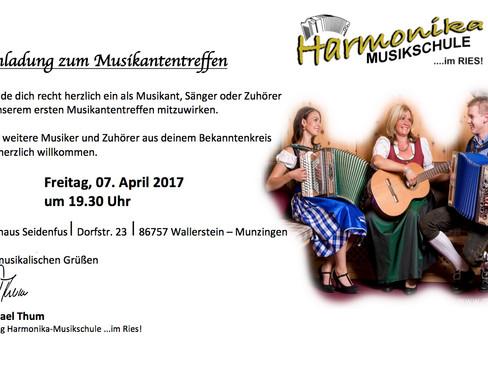 Einladung zum Musikantentreffen