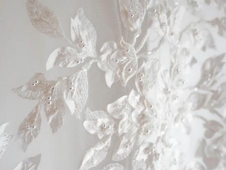 Preparing Our Luxury Bridal Fabrics