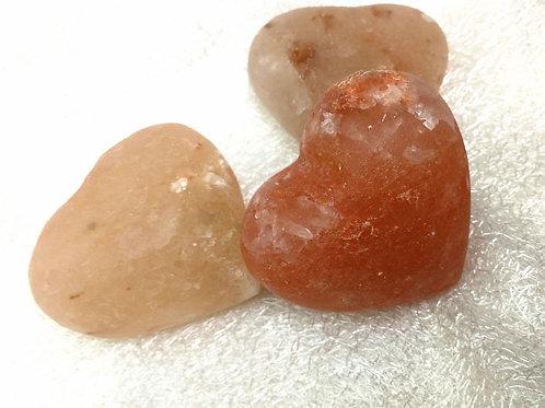 Salzkristall Seife in Herzform
