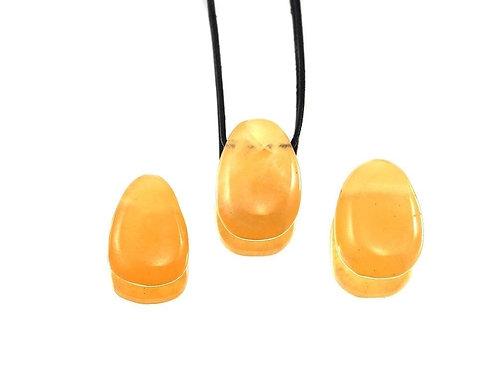 Orangencalcit Tropfenanhänger
