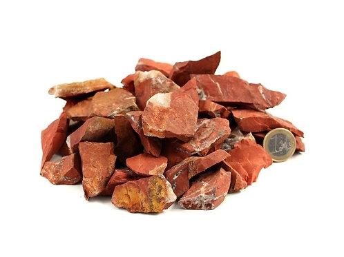 Roter Jaspis Rohsteine zur Wasseraufbereitung, 100 g