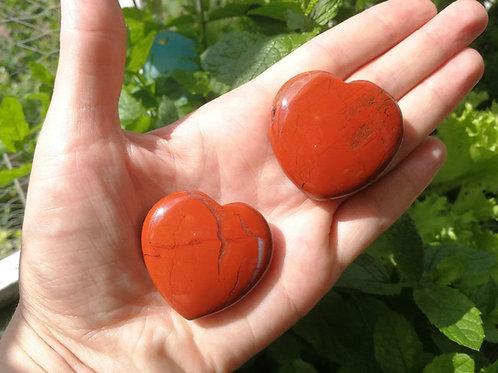 Edelsteinherz Roter Jaspis