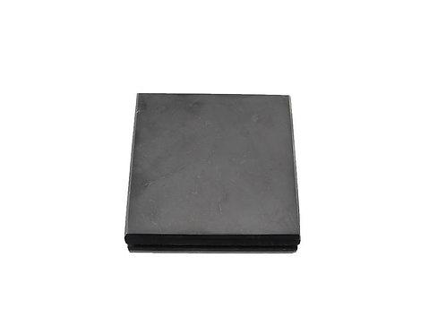 Schungit Platte, 10 x 10 cm