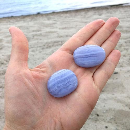 Taschenstein Blauer Chalcedon