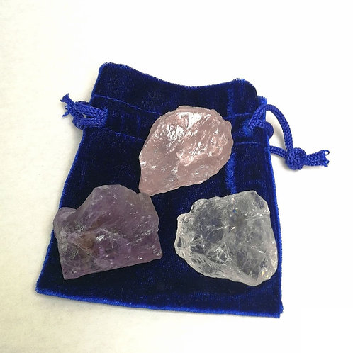 Grundmischung: Amethyst, Bergkristall, Rosenquarz