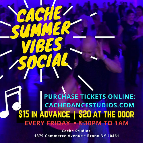 Admission to Friday July 30th Social