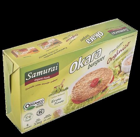 Samurai Foods.Linha Hamburgueres de Soja