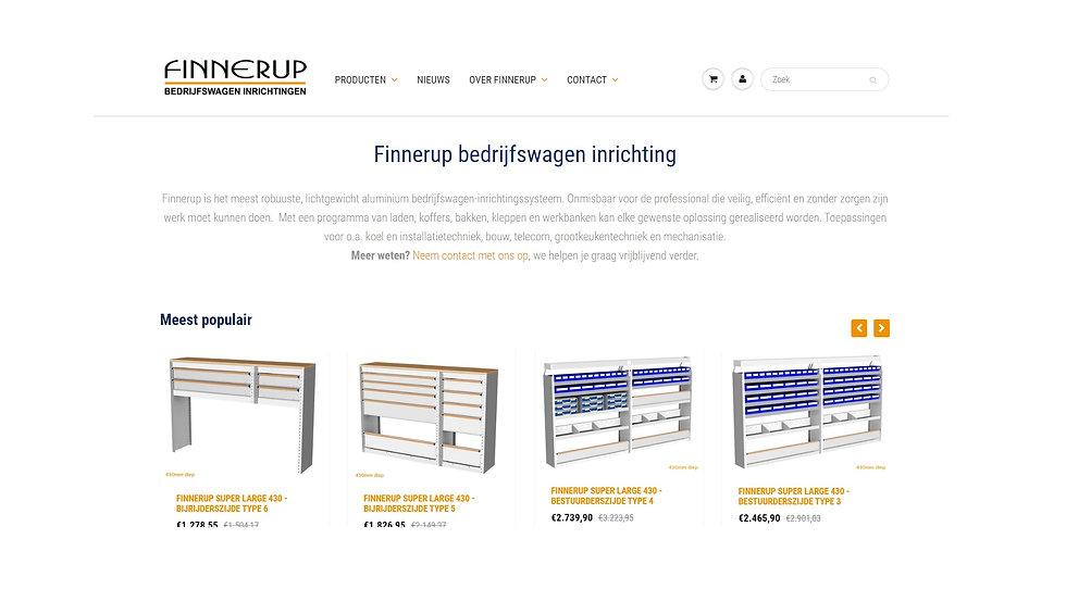 Finnerup.nl webshop overzicht 19-11-2020