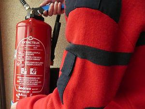 Extincteurs utilisés par les agents de sécurité incendie (ssiap 1,2,3) de la société de sécurité incendie ATMOS Sécurité Bretagne sur Rennes