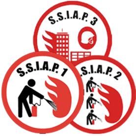 Image symbolisant les différents niveaux d'agents de la sécurité incendie ssiap1,2 et 3 mis en place par la société Atmos sécurité Bretagne sur Rennes et Saint-malo
