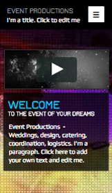 Muziekindustrie website templates – Evenementenbureau