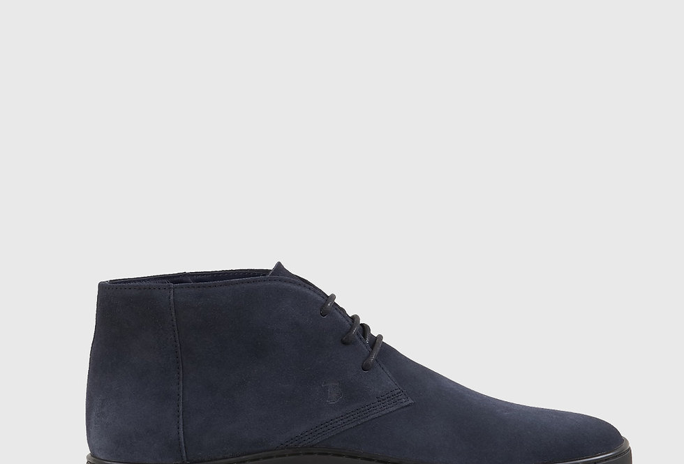 Tod's Desert Boots Suede Blue