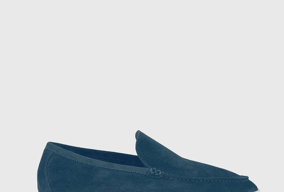 Loro Piana Summer Walk Moccasin Suede Stone Jeans