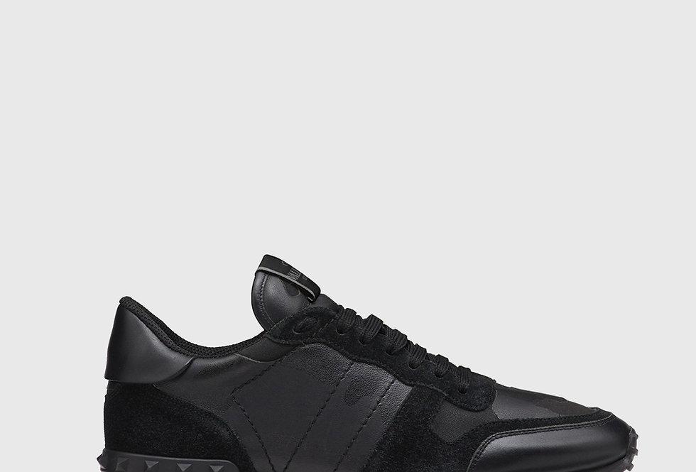 Valentino Camouflage Noir Rockrunner Sneaker Black
