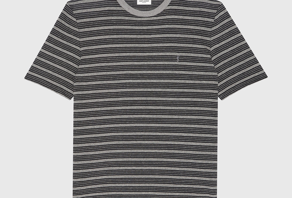 Saint Laurent Monogram Classic T-shirt Light Grey
