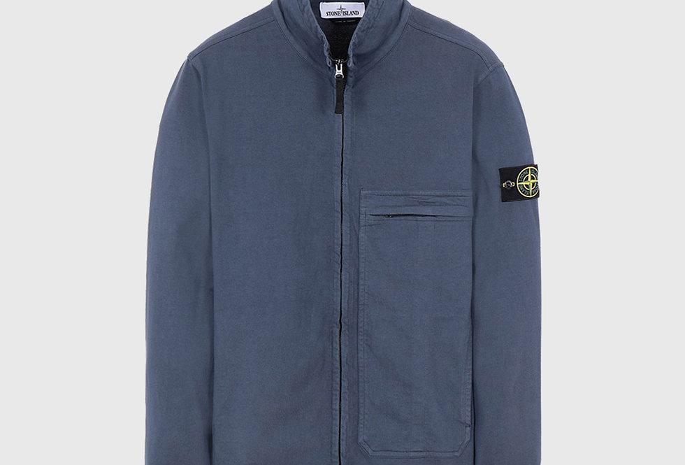 Stone Island 61050 Full Zip Sweatshirt Avio Blue