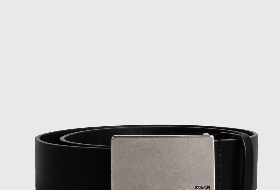 Dsquared2 Icon Plaque Leather Belt Black
