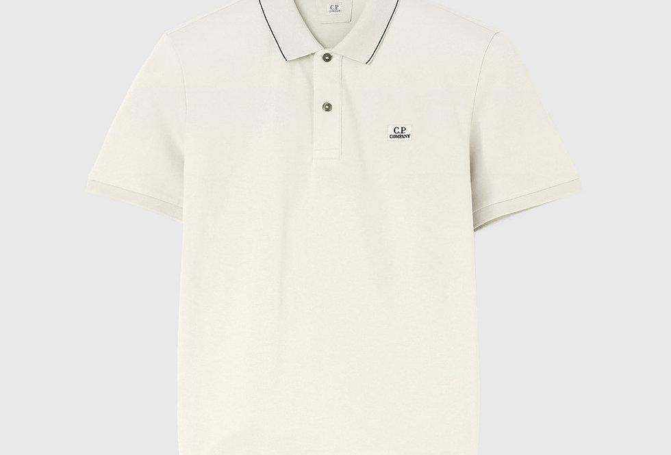 C.P. Company Stretch Piquet Logo Polo Shirt Beige
