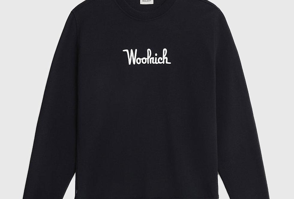 Woolrich Essential Crewneck Sweatshirt Navy