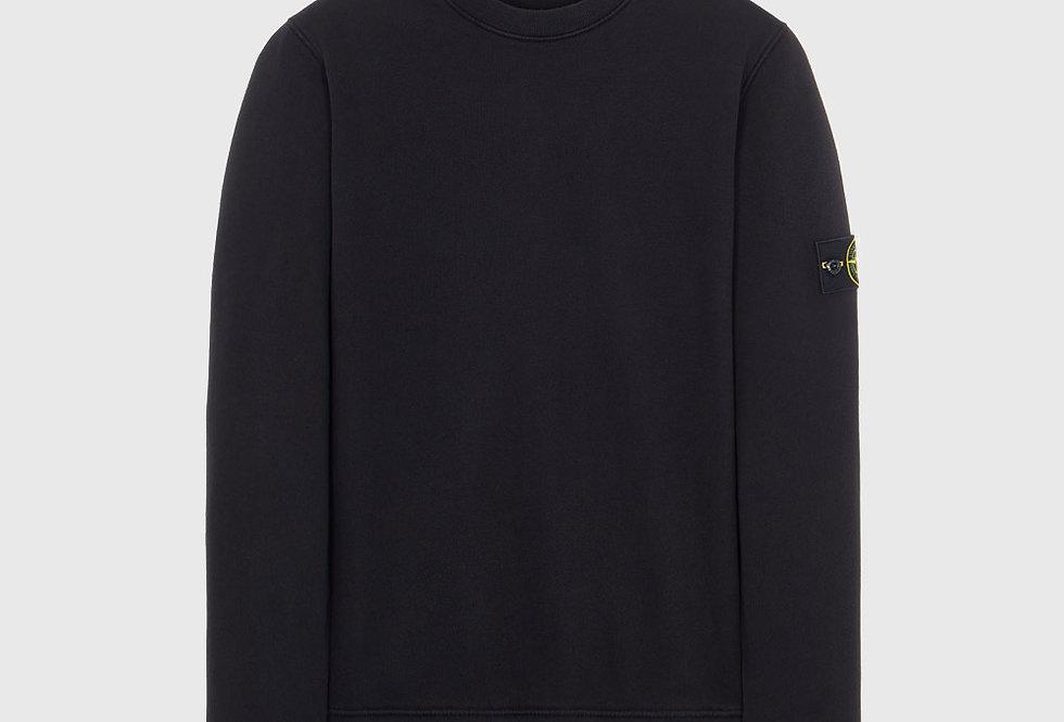 Stone Island 63020 Cotton Fleece Sweatshirt Black