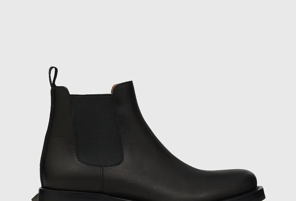 Valentino Roman Stud Calfskin Chelsea Boot Black