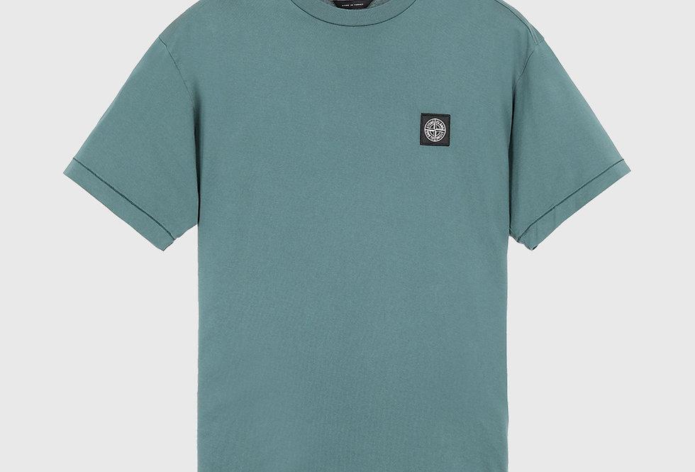 Stone Island 24113 Patch Logo T-shirt Dark Teal Green