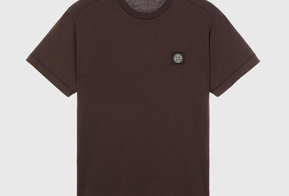 Stone Island 24113 60/2 Cotton Jersey T-Shirt Dark Brown