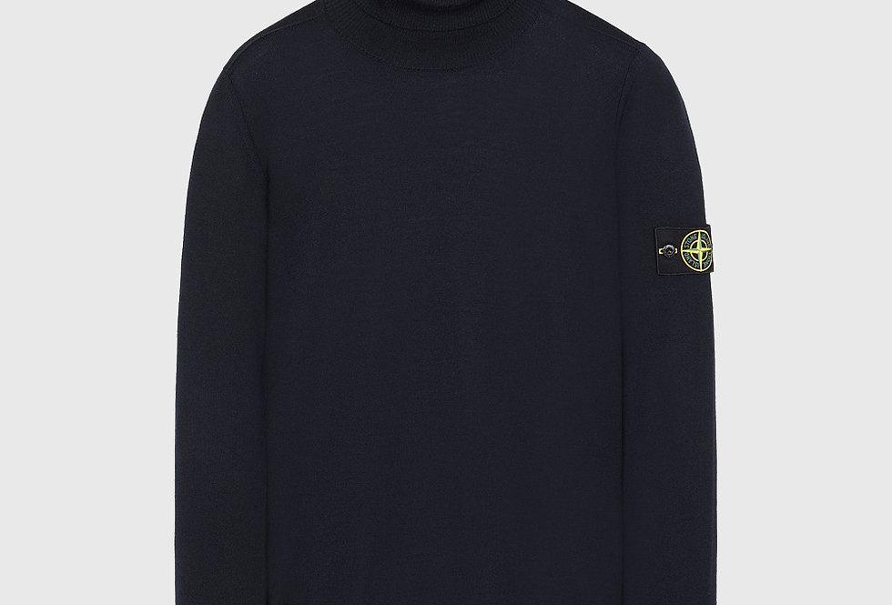 Stone Island 528C4 Light Wool Knitwear Navy