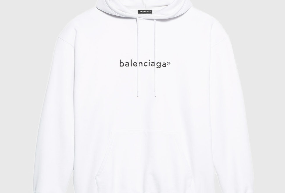 Balenciaga New Copyright Medium Fit Hoodie White