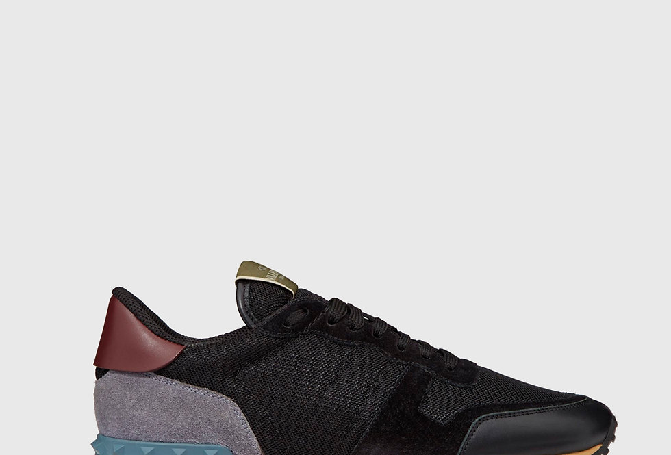Valentino Fabric Rockrunner Sneaker Black