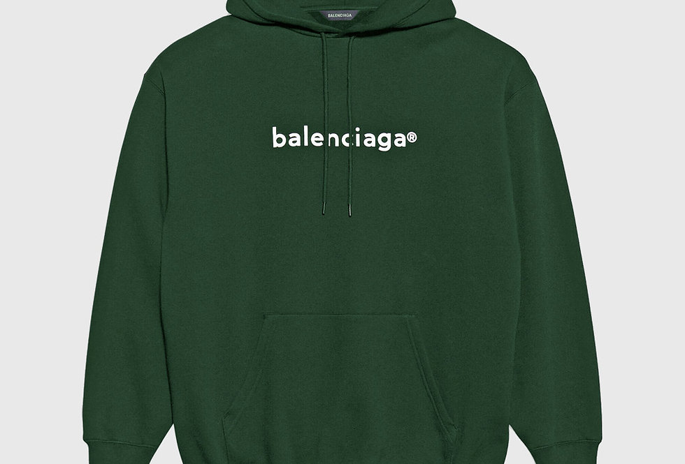 Balenciaga New Copyright Medium Fit Hoodie Dark Green