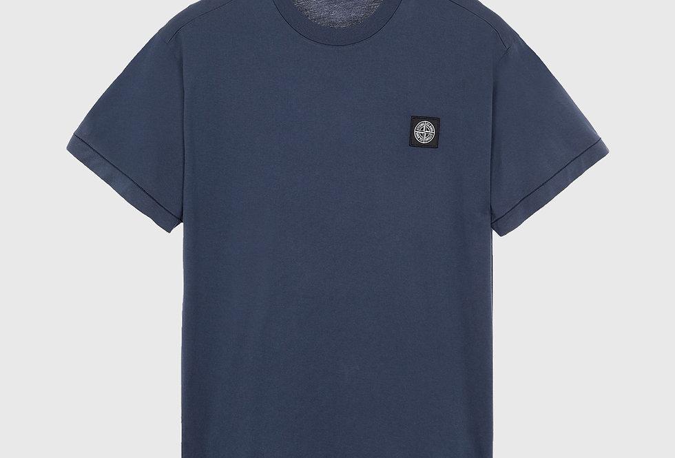 Stone Island 24113 Patch Logo T-shirt Avio Blue