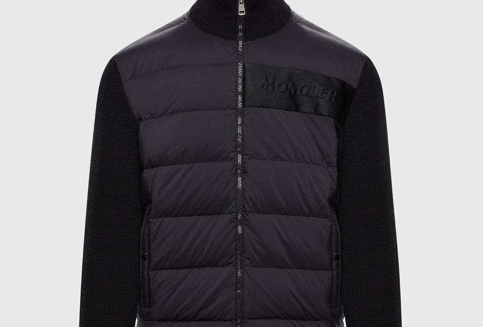 Moncler Grenoble Padded Cardigan Black