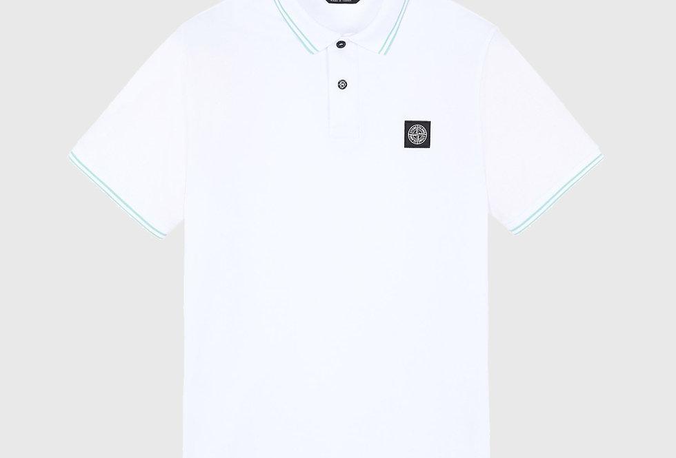 Stone Island 22S18 Stretch Pique Polo Shirt White