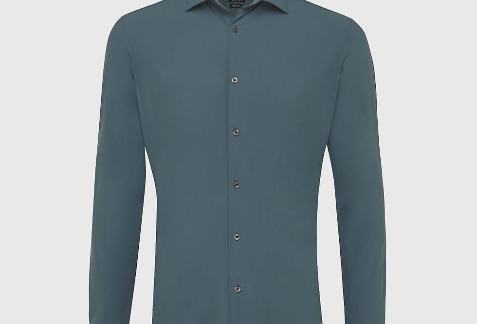 Genti Dynamic Skin Fit Stretch Shirt Green