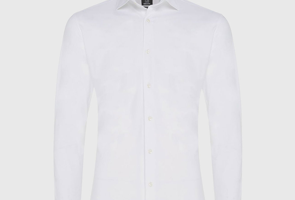 Genti Dynamic Skin Fit Stretch Shirt White