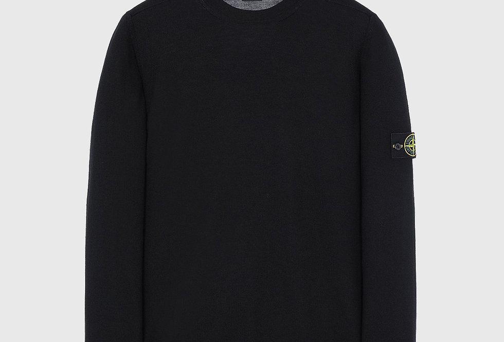 Stone Island 526C4 Wool Pullover Knitwear Black