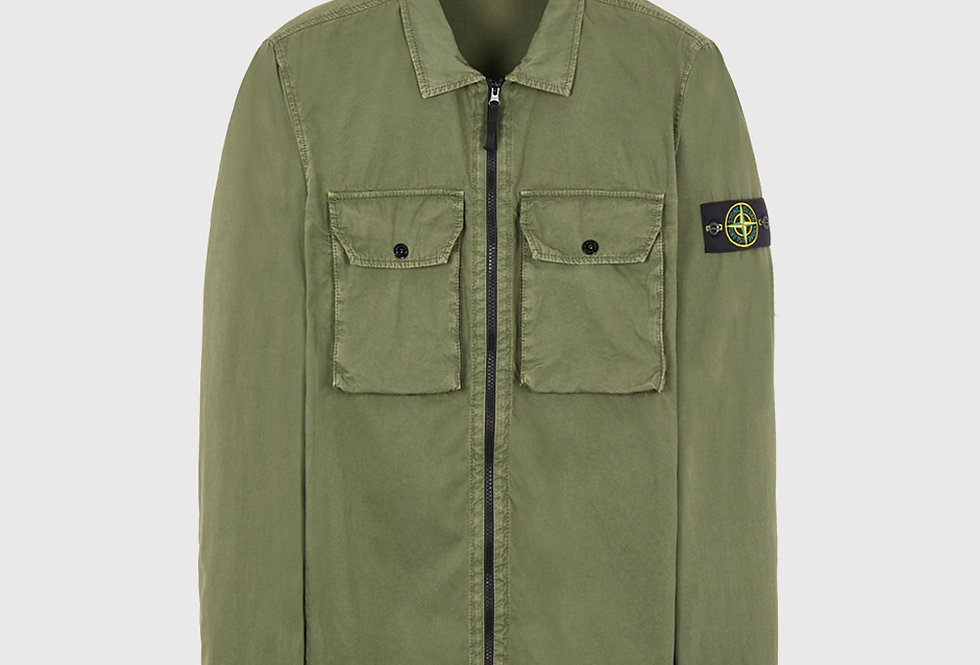 Stone Island 113WN Cotton Canvas_Old Effect Over Shirt Sage Green