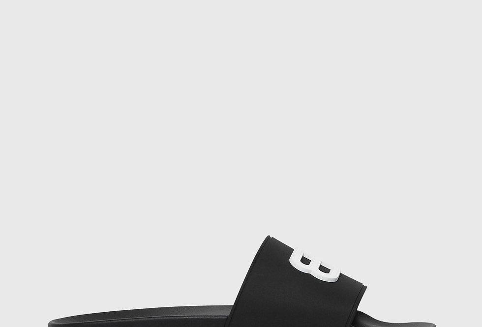 Balenciaga Pool Slide Sandal Black White